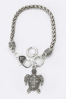 Sea Turtle Charm Chain Bracelet