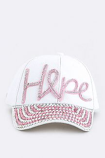 Hope Crystal Embelished Cap