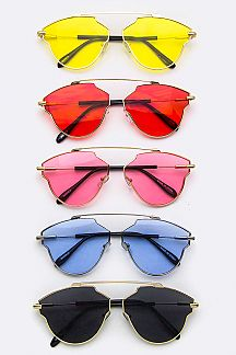 Color Lens Fashion Sunglasses