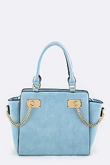 Chain Accent Fashion Hand Bag
