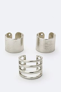 Mix Metal Rings Set