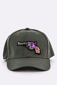 Embroidery Revolver Patch Fashion Cap