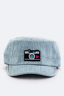 Camera Patch Denim Cadet Cap