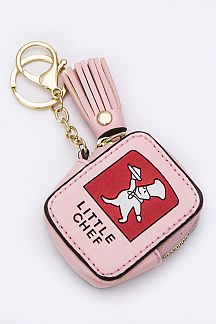 LITTLE CHEF Coin Purse Key Charm