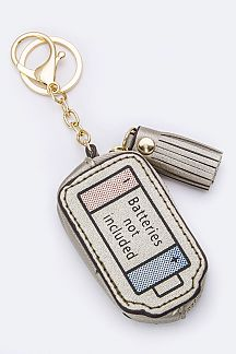 Battery Design Coin Purse Key Charm