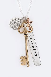 Mix Key Charms Necklace