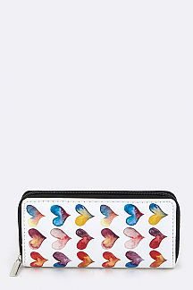 Hearts Pattern Wallet