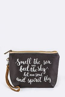 Smell The Sea... Wristlet Pouch