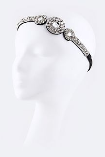 Crystal Boho Design Stretch Headband