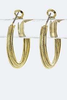 Hypo Allergenic Overlapped Layer Hoop Earrings - S