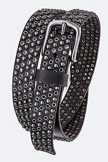 Mix Studs Iconic Leather Belt