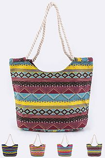 Assorted Tribal Print Tote Set