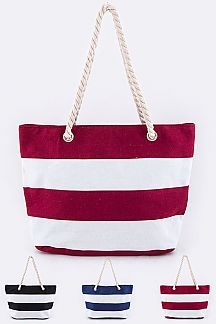 Large Stripe Canvas Tote