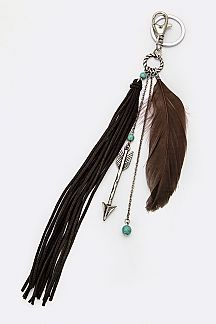 Arrow Tassel Key Charm