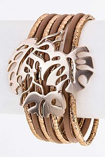 Metal Leaf Slider Layer Cuff