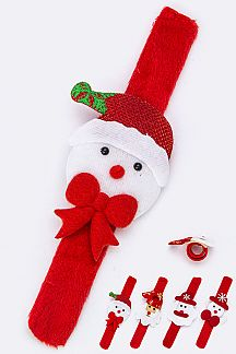 X'mas Character Snap Wristbands Set