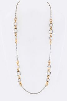 2 Tone Chains Necklace