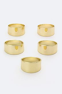 5 PC Metal Rings Set