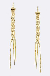 Braiding Chain Earrings