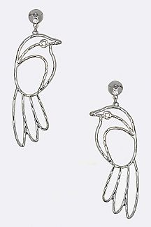 Metal Bird Earrings