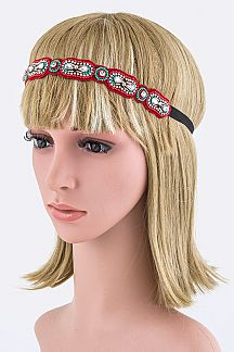 Crystal & Beads Boho Stretch Headband