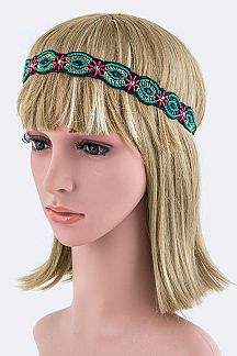 Beads & Sequins Tribal Stretch Headband