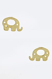 Sterling Silver Petite Elephant Studs