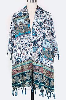 Paisley Print Cardigans