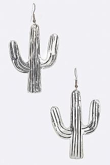 Textured Cactus Earrings