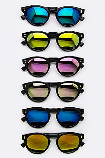 Mirror Tinted Oval Sunglasses