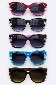 2 Tone Rim Fashion Sunglasses