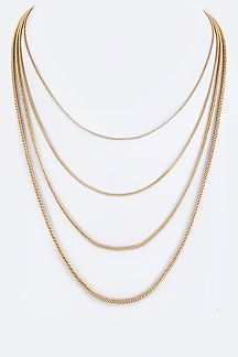 Layer Chains Necklace