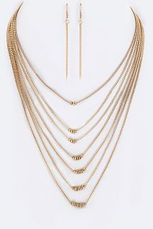 Layer Chains Necklace Set