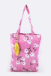Flower Print Fashion Tote