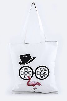 Flamingo Patch Fashion Tote