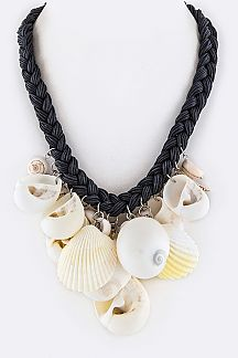 Mix Shells Statement Necklace