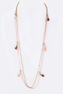 Stationed Tassels Layer Necklace