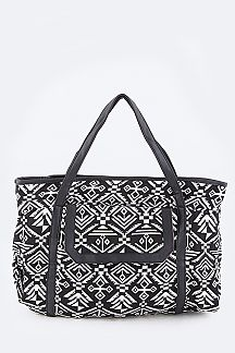 Tribal Jacquard Fashion Tote