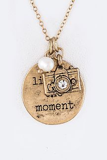 Live In The Moment Mix Charms Necklace Set