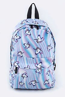 Unicorn Pattern Nylon Backpack
