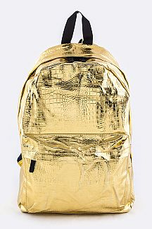 Gold Nylon Backpack