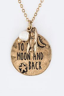 To The Moon And Back Mix Charms Necklace Set