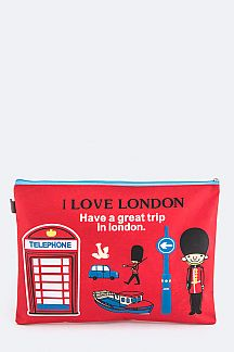 I LOVE LONDON Large Pouch