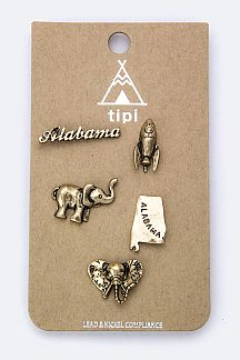 Alabama State Pin Badges Set
