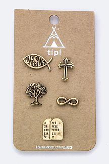 Mix Gospel Pin Badges Set