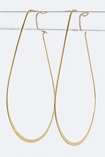 Thin Wire Teardrop Hoop Earrings