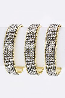 Crystal Bars Bangle