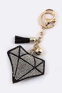 Crystal Diamond Keycharm