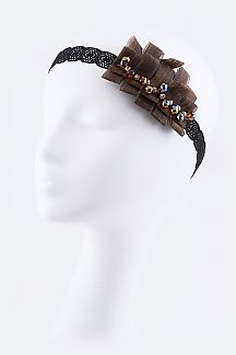 Crystal Laced Stretch Statement Headband