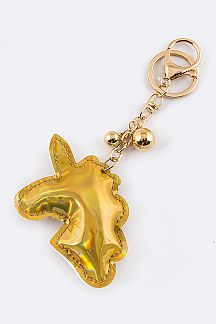 Metallic Unicorn Key Charm